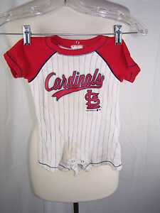 St. Louis Cardinals MLB Infant Romper ONEpiece Size 3-6 Mo 100% Cotton