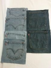 6 LEE Upcycled Back Pockets Denim Levi Blue Jeans Journal bags Quilting crafts