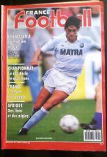 France Football  29/03/1988; Francescoli/ RFA; Brême/ Cameroun/ Maroc