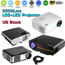 Android Mini LED LCD Projector 4K WIFI 3D 1080P Digital Home Theater Cinema HDMI