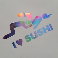 I Love Sushi Farbwechsel flip Flop Auto Aufkleber Shocker Tuning Stickerbomb