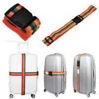 New Adjustable Backpack Bag Luggage Suitcase Straps Baggage Rainbow Belts