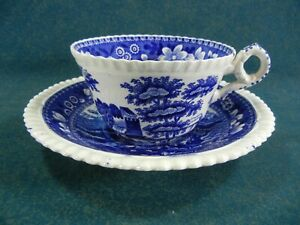Copeland Spode Blue Tower Old Mark Cup and Saucer Set(s)