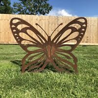Rusty Metal LARGE BUTTERFLY Garden Ornament decoration feature sign rustic
