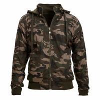 Giubbotto uomo camouflage mimetico invernale double face giacca militare HD-7350