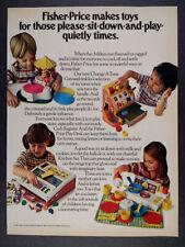 1981 Fisher-Price Toys Carousel Cash Register Play Desk Kitchen vintage print Ad