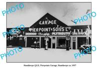 OLD LARGE PHOTO OF STANTHORPE PIERPOINT GARAGE c1937 QLD PETROL BOWSER