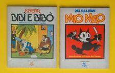 KNERR BIBì e BIBO - PAT SULLIVAN MIO MAO  2 LIBRI - FUMETTO STOCK  VINTAGE