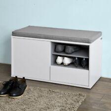 Sobuy Banc de Rangement À Chaussures avec Coussin Rembourré tiroir Fsr37-w FR