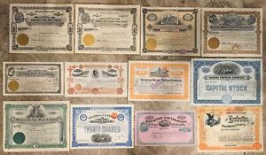 ^^EXCLNT^^ 12 MINING COMPANY STOCK CERTS (ALASKA NEVADA MONTANA & MORE ) > NoRsv