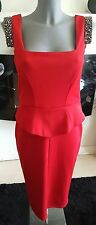 RIVER ISLAND red embellished bodycon dress size 10