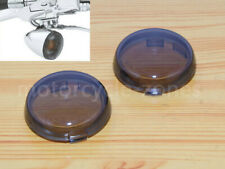 2x Turn Signal Lamp Smoked Lens Cover For Harley Sportster Dyna Softail XL883 48