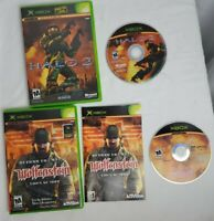 Return to Castle Wolfenstein - Tides of War Complete & Halo 2 Lot Xbox Disks VG