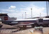 1968 kodachrome Photo slide  Hawker Siddeley HS-121 Trident Airplane London