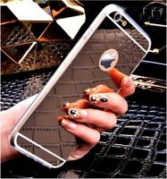 Luxury Ultra Thin Mirror Soft TPU Case Cover for iPhone 5/6/7/8 Plus Phones