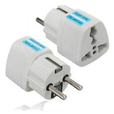 US AU UK TO EU EURO EUROPE EUROPEAN TRAVEL ADAPTOR POWER PLUG CONVERT 3 TO 2 PIN