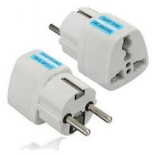 Hot US UK AU To EU Europe Travel Charger Power Adapter Converter Wall Plug White