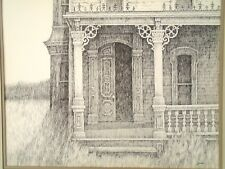 """Catskill Victorian""  House 14"" x 18"" Ink Drawing-1982--William Gorman"