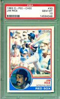 1983 OPC O-Pee-Chee  #30 Jim Rice  PSA 10 (Gem Mint) Boston Red Sox - Pop.1 of 4