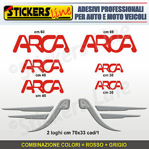 Kit completo 8 adesivi camper ARCA loghi M.6 stickers caravan roulotte decal