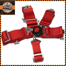 Seat Belt 5 Point Racing Harness Kit Quick Release Track Race Drift Car Red