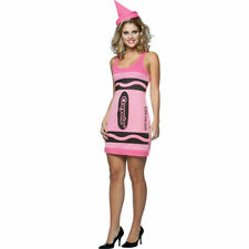 Sexy Pink Crayon Dress Crayola Women's Adult Halloween Costume Licensed One Size