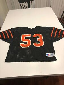 Game Worn Used Princeton Tigers Football Jersey Russell Size Extra Large #53