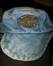 Harley Davidson Dog Hat Denim Preowned  Great Condition