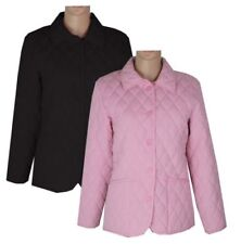 Polyester Waist Length Quilted Coats & Jackets for Women