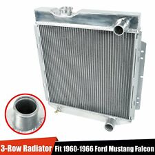 3 Row Aluminum Cooling Radiator Fit 1960-1966 Ford Mustang Falcon Comet V8 MT