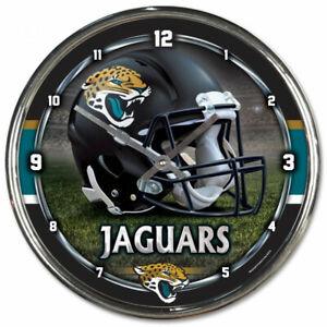 NFL Jacksonville Jaguars Wall Clock Chrome Watch Football