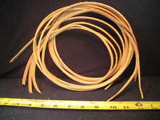 """Leather Strips , Top Grain Leather 62"""" L X 1/4"""" W. Great For Bird Toy'S & Craft."""