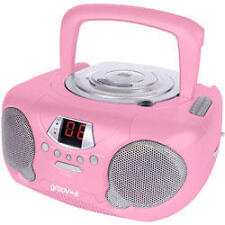 Groov-e gvps713 Portable Audio Lettore CD Radio Boombox Aux Input LED-Rosa NUOVE