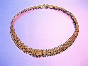 Vintage Grosse Christian Dior Gold Plated 1960's Choker Necklace Germany