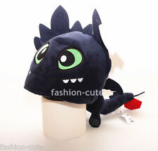 New How to Train Your Dragon Night Fury Toothless Plush Hat Cap Costume Cosplay