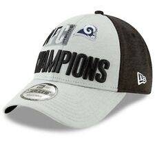 best loved 96cf9 9a014 ... discount nfl los angeles rams new era nfc west division champs 9forty  adjustable hat gray 9f57c