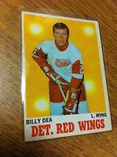 O-PEE-CHEE HOCKEY 1970-71 BILLY DEA CARD 30 DETROIT RED WINGS