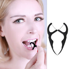 50pcs Bamboo Charcoal Dental Floss Teeth Toothpicks Stick Oral Care Tooth Clean