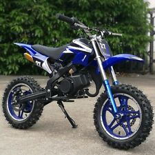 High Quality 49cc two-stroke motorcycle mini pocket dirt bike Blue