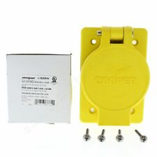 Cooper Yellow Single Watertight Locking Receptacle L19-20R 20A 277/480V L1920RW