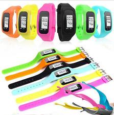 LCD Digital  Pedometer Wrist Step Run Walking Distance Calorie Counter Watch