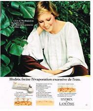 PUBLICITE  advertising 1976   LANCOME cosmétiques creme HYDRIX
