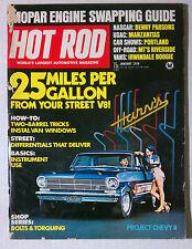 HOT ROD MAGAZINE VINTAGE 1974 JANUARY  CHEVY II FORD MOPAR GM RACING
