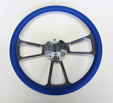 New! Falcon Mustang w/ generator Blue and Billet Steering Wheel 14""
