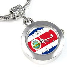 Costa Rica Flag Silver European Charm Bead Quartz Watch For Bracelet EBA243