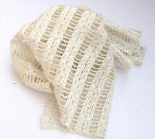 C36 MADE IN ITALY STUNNING FABRIC SUPER FINE IVORY COTTON & FLAX LENO WEAVE