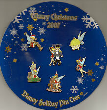 Disney Pin DS - 2007 Advent Christmas - 6 Pin Set Tinker Bell *NEW ON CARD*