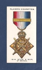 1914 STAR & BAR Mons Star  MEDAL DECORATION Campaign Medal 1927 card