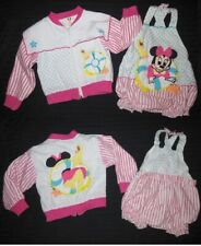 VTG Disney Wear 80's Romper & Matching Jacket Baby Minnie Mouse 12M 2 Pc Outfit