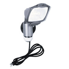 All-Pro Gray Halogen Motion-Activated Sensor Outdoor Flood Light with Timer